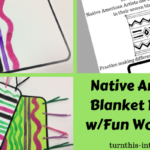 Native American Blankets Art Activity for Kids